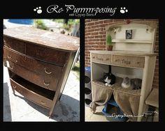 Dresser repurposed into cat condo! From Gypsy Barn - www.facebook.com/gypsybarn