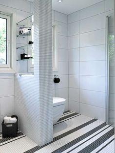 SKILLEVEGG: Toalettet er festet på den halve skilleveggen. Slik blir ikke…