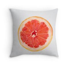 'Grapefruit Slice' Throw Pillow by houseofenigma Duvet, Bedding, Grapefruit, Throw Pillows, Blanket, Down Comforter, Toss Pillows, Decorative Pillows, Decor Pillows
