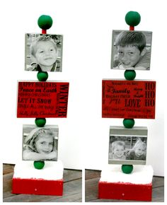 Christmas Photo Holder with Mod Podge - Seven Alive