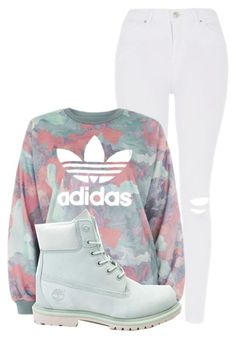 """""""Untitled #7"""" by jaystaylitt ❤ liked on Polyvore featuring Topshop, adidas and Timberland"""
