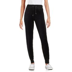Calvin Klein Velour Jogger Pants ($52) ❤ liked on Polyvore featuring activewear, activewear pants, black, calvin klein sportswear, calvin klein activewear and calvin klein