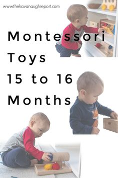 Montessori toddler toys for 15 and 16-month-olds. These educational and fun toys are perfect for focused playtime with toddlers. Montessori Toddler, Montessori Activities, Toddler Toys, Preschool Activities, Baby Toys, Family Child Care, Practical Life, Tot School, Shelfie