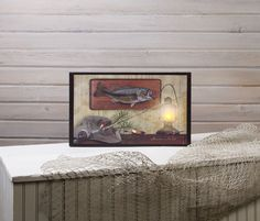 Shelley B Home and Holiday - Fishing Memories with Dad Lighted Picture, $27.50 (http://shelleybhomeandholiday.com/fishing-memories-with-dad-lighted-picture/)