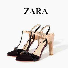 5f07f37c1b3a ZARA T- Bar Ankle Strap Heels Platform Sandals With Geometric Heel  Zara   StrappyAnkleStraps
