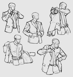 putting on suit drawing reference, put on jacket, clothing, getting dressed bowen inspo Suit Drawing, Drawing Base, Manga Drawing, Jacket Drawing, Dress Drawing, Body Reference Drawing, Drawing Reference Poses, Hand Reference, Anatomy Reference