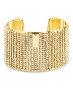 Love this Gold & Crystal Pave Cuff on #zulily! #zulilyfinds