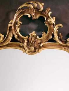 mirror - wall mirror - Tuscan mitrror - Tuscan style carved wood mirror