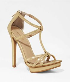 Shop women's clothing, shoes, & accessories at Express! Cheap Womens Shoes, T Strap Heels, Cute Toes, Bridesmaid Shoes, Fashion Shoes, Women's Fashion, Shoe Collection, Metallic Clothing, Open Toe