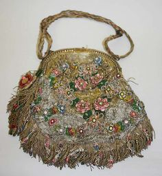 Opera bag - Date: ca. 1914 - Culture: European - Medium: silk, metal - Width: 13.5""