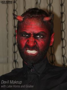 Devil Makeup with latex horns and goatee