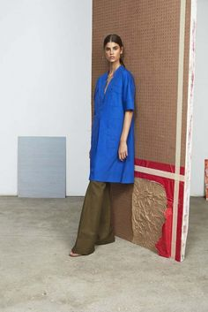 Cobalt blue + olive green = one very appealing color combo // 10 Crosby Derek Lam Spring 2015 #NYFW  #SS15