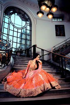 orange lengha  #shaadibazaar, #indianwedding