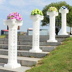Wedding Decorative Plastic Roman Column Height Adjustable Hold Flowers Plates | eBay