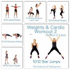 You can reach your goals faster by combining Cardio and Weights! Try adding this routine to your exercise schedule!