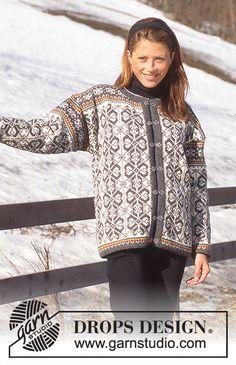 Women - Free knitting patterns and crochet patterns by DROPS Design Knitting Charts, Sweater Knitting Patterns, Free Knitting, Baby Knitting, Drops Design, Crochet Jacket, Knit Crochet, Fair Isle Pullover, Fair Isle Pattern