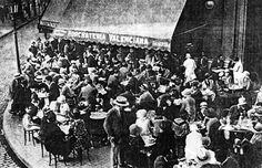 Foto del 1910, de la mítica terraza de aribau 1 #Barcelona