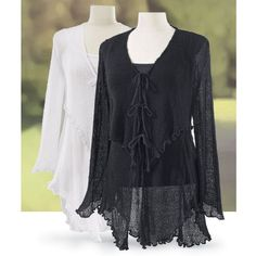 Tiered Mesh Cardigan - New Age, Spiritual Gifts, Yoga, Wicca, Gothic, Reiki, Celtic, Crystal, Tarot at Pyramid Collection