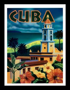 Shop Cuba, tropic isle, city tower, vintage, travel postcard created by Backpack_design. Personalize it with photos & text or purchase as is! Circuit Cuba, Cuba Art, Vintage Cuba, Cuba Travel, Travel Trip, Varadero, Vintage Travel Posters, Postcard Size, Backdrops