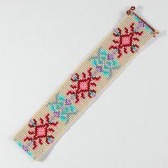Baroque Floral Bead Loom Bracelet Bohemian Boho par PuebloAndCo