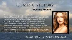 Chasing Victory ~ Book 1 of The Winters Sisters Series http://www.amazon.com/Joanne-Jaytanie/e/B00C3458YE/ref=ntt_athr_dp_pel_1