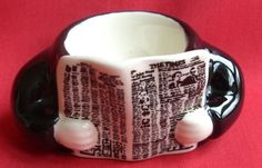 A new newspaper. The Times.  RISING HAWK (CARLTON WARE) EGG CUP NOVELTY EGGCUP - NEWSPAPER READER