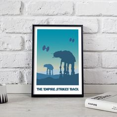 Star wars Poster art print wall art decor The Empire Strikes Back Tatooine Death Star Endor Hoth Bespin Dagobah Jakku Mandalore Gift poster Star Wars Wall Art, Star Wars Decor, Star Wars Poster, Galaxy Saga, Wall Art Decor, Wall Art Prints, Poster Wall, Poster Prints, Star Wars Prints