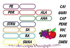 Completați spațiile albe cu cuvintele date pe coloana din dreapta pentru a obține numele unor fructe. Alphabet, School, Kids, Cl, Literatura, Education, Learning, Young Children, Boys