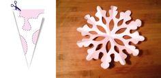 Jak zrobić śnieżynki z papieru – szablony (DIY)   Mamotoja.pl Christmas Countdown, Christmas Holidays, Triangle, House Styles, Crafts, Santa, Decor, Fashion, Christmas Vacation