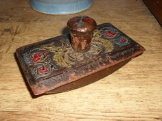 Leather Covered Roller Ink Blotter--oh the days of quills and fountain pens!