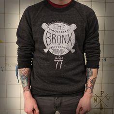Bronx is Burning Crewneck Sweatshirt |  Pursuit of New York