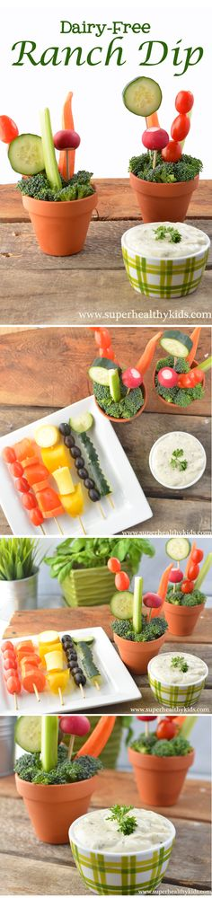 We're going to try this dairy free ranch and make some fun spring veggies!
