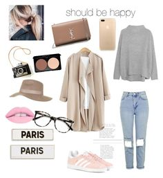 """""""first"""" by happyflappyeva on Polyvore featuring Topshop, adidas Originals, Vince, Rosanna, Yves Saint Laurent and Ace"""