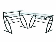 #giving Belaire glass L desk.