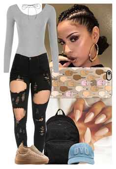 """Fall #1"" by msixo ❤ liked on Polyvore featuring Casetify, WearAll, Hogan, Puma and Lilou"