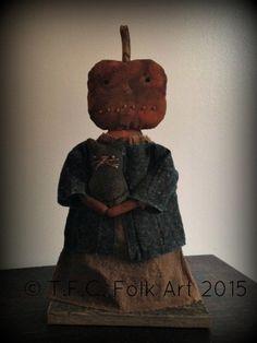 Octavia Pumpkin Head E-Pattern by tfcfolkart on Etsy