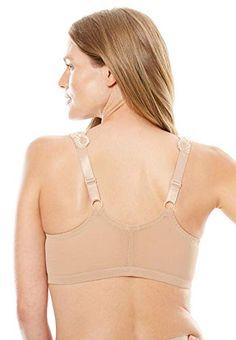cf0b38db32c Comfort Choice Women s Plus Size Front Hook Wireless Gel Strap Bra
