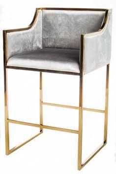 PRE-ORDER-J-103-Erin Gold Bar Chair