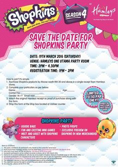 19 Mar 2016: Hamleys Shopkins Party