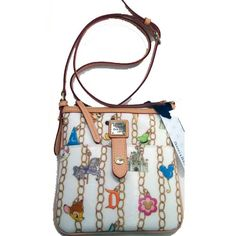 disney dooney and bourke | Your WDW Store - Disney Dooney & Bourke Bag - Charms White - Letter ...