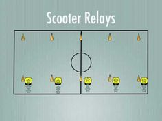 Physical Education Games - Scooter Relays - YouTube
