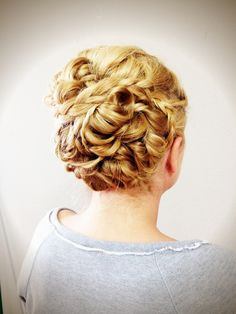 Updo long hair Grecian