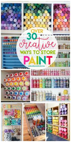 storage and organization roundup Paint storage and organization roundup. Paint storage and organization roundup. Craft Paint Storage, Paint Organization, Art Storage, Organization Ideas, Acrylic Paint Storage, Craftroom Storage Ideas, Craft Storage Solutions, Arts And Crafts Storage, Art Studio Organization