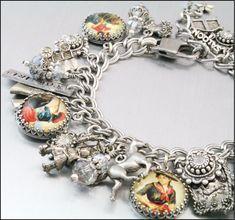Western Silver Charm Bracelet, Cowgirl Jewelry, Horses Jewelry, Western Jewelry, via Etsy.