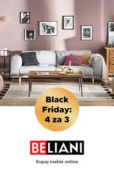 Black Friday, Black Week- Black Friday, Black Week It& time! We start the Black Week! Discover our offer 4 for Buy 4 different products in our shop and pay only for Just use the code until # - Black Week, Restaurant Lounge, Lounge Furniture, Kids Corner, House Rooms, Black Friday, Couch, Living Room, Wall