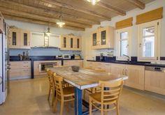 Villa Astir/ Antiparos Greece / www. Greece, Villa, Interior, Kitchen, Table, Furniture, Home Decor, Greece Country, Cuisine