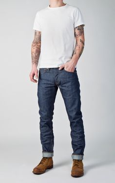 CULTIZM - Carefully selected menswear since Shop over 100 brands in our online shop. Mens Boots Fashion, Fashion Outfits, Red Wing Iron Ranger, Bohemia Style, Men Closet, Up Styles, Summer Wardrobe, Blue Grey, Denim Jeans