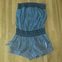 Adorable Romper Gray and black strapless romper. Has front  pockets. Gently used. Jolt Other