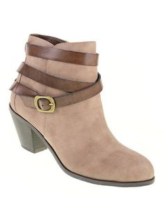 Look at this #zulilyfind! Taupe & Coffee Light Up Ankle Boot #zulilyfinds