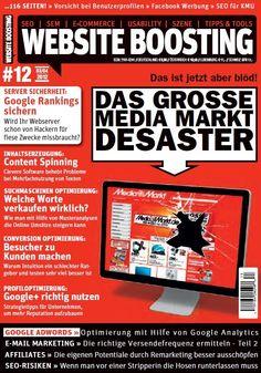 Exklusiv vorab hier bei Pinterest: Das Cover der neuen Website Boosting, Ausgabe 12!